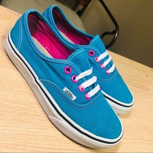 Neon Colored Vans Authentic Sneakers